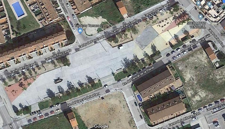 Imatge aèria de la Rambla Josep Canyes del Vendrell.