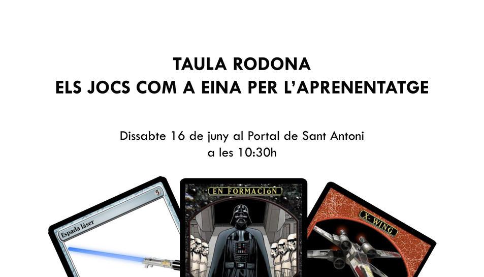 Imatge del cartell de la xerrada 'Els jocs com a eina per a l'aprenentatge'.