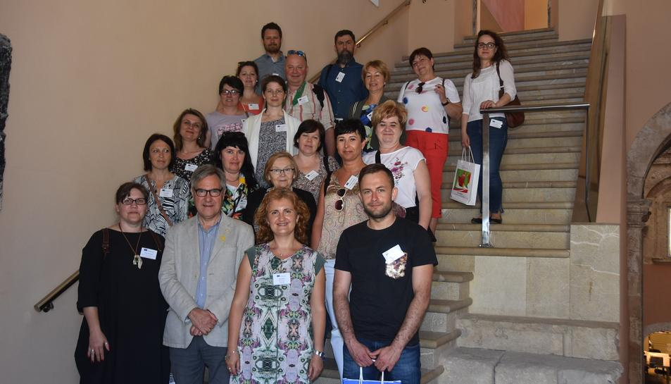 Imatge del participants de la Segona Trobada del Projecte europeu Erasmus Plus.