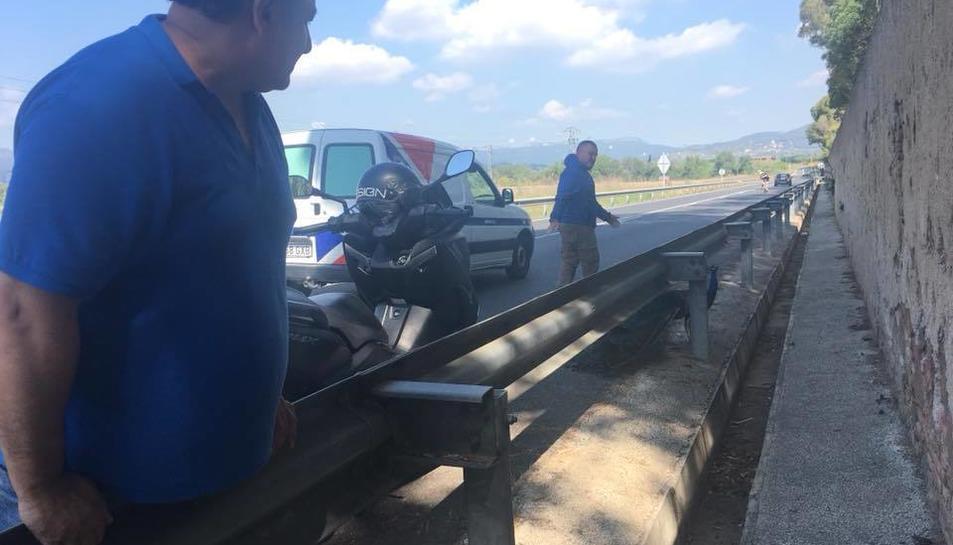 Diversos conductors s'han aturat per a protegir a l'animal i ajudar al seu rescat.