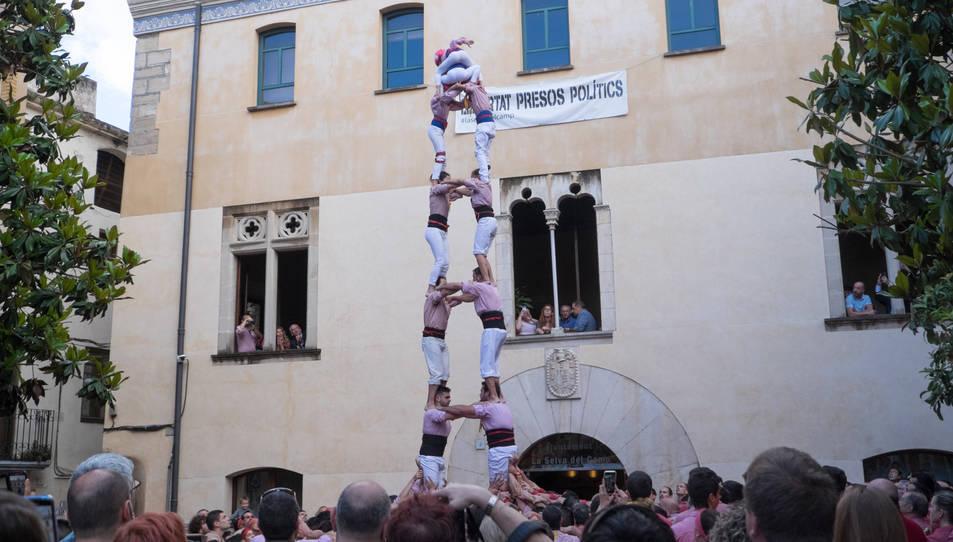 2de7 dels Xiquets de Tarragona a la diada de la festa major de La Selva del Camp