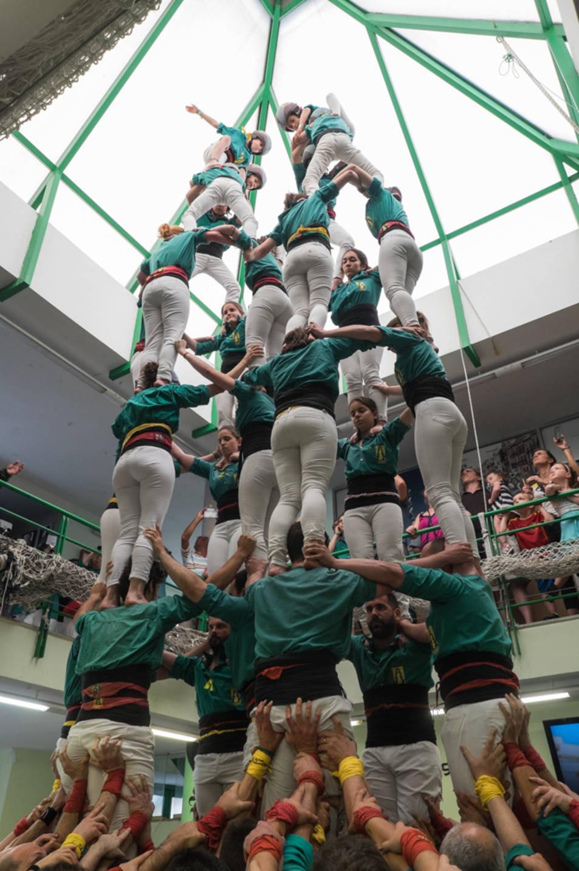7de7 dels Castellers de Sabadell a la Diada del Local de Sant Pere i Sant Pau