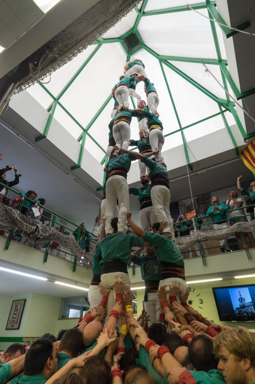 4d8 dels Castellers de Sabadell a la Diada del Local de Sant Pere i Sant Pau