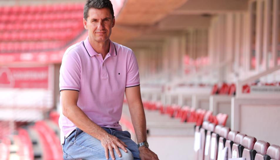 José Antonio Gordillo, al Nou Estadi. El tècnic grana recorda la dificultat que ha significat assolir la permanència i deixa ben clar que la seva ambició serà major la pròxima temporada.