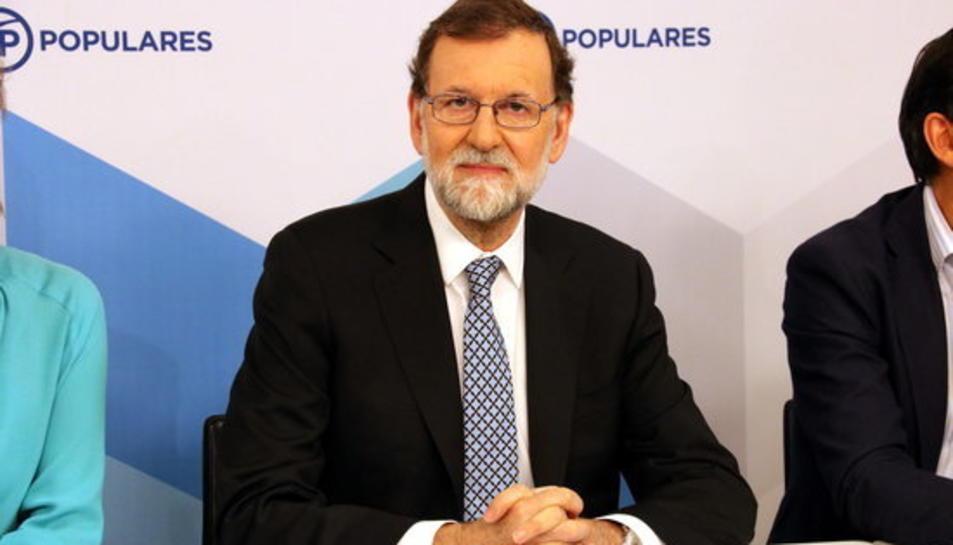 El president del PP, Mariano Rajoy, aquest 05/06/2018 al Comitè Executiu Nacional del PP.