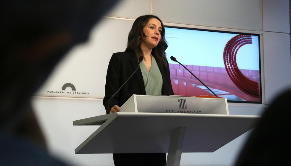 La presidenta del grup parlamentari de Cs, Inés Arrimadas.