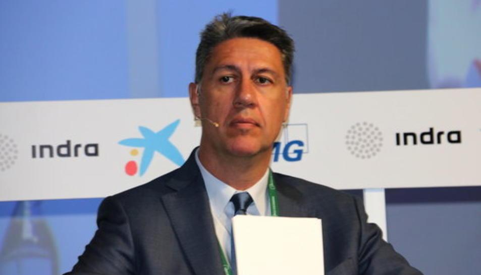 El president del PPC, Xavier Garcia Albiol, durant el debat a la XXIV Reunió del Cercle d'Economia a Sitges, l'1 de juny del 2018.