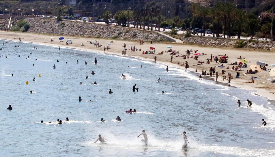 Imatge d'arxiu de la platja del Miracle de Tarragona.