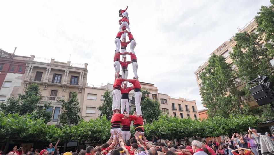 3de8 dels Castellers de Barcelona a la diada del Pati