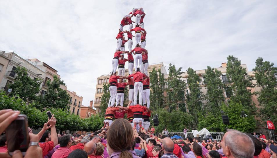5de8 de la Colla Joves Xiquets de Valls a la diada del Pati