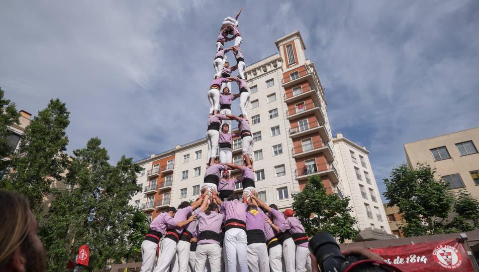 3de9 de la Colla Jove Xiquets de Tarragona a la diada del Pati