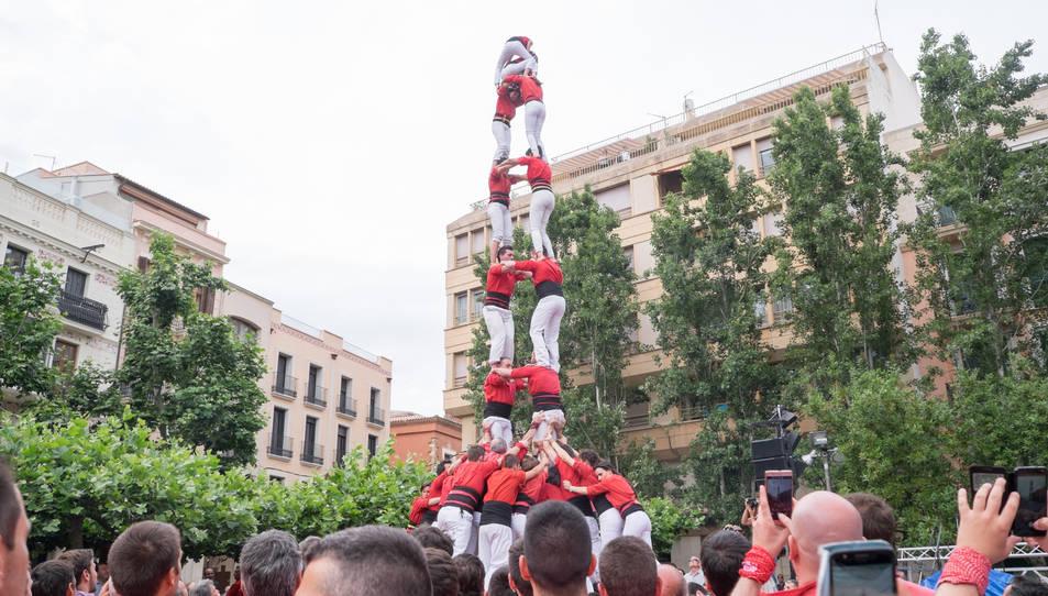 2de8f dels Castellers de Barcelona a la diada del Pati