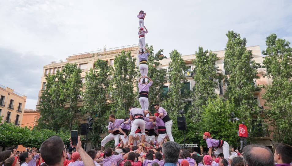 4de8a de la Colla Jove Xiquets de Tarragona a la diada del Pati