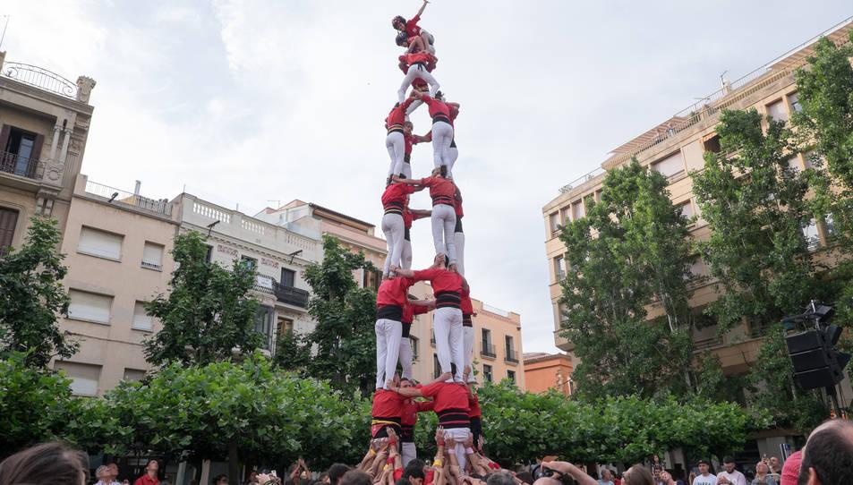 4de8 dels Castellers de Barcelona a la diada del Pati