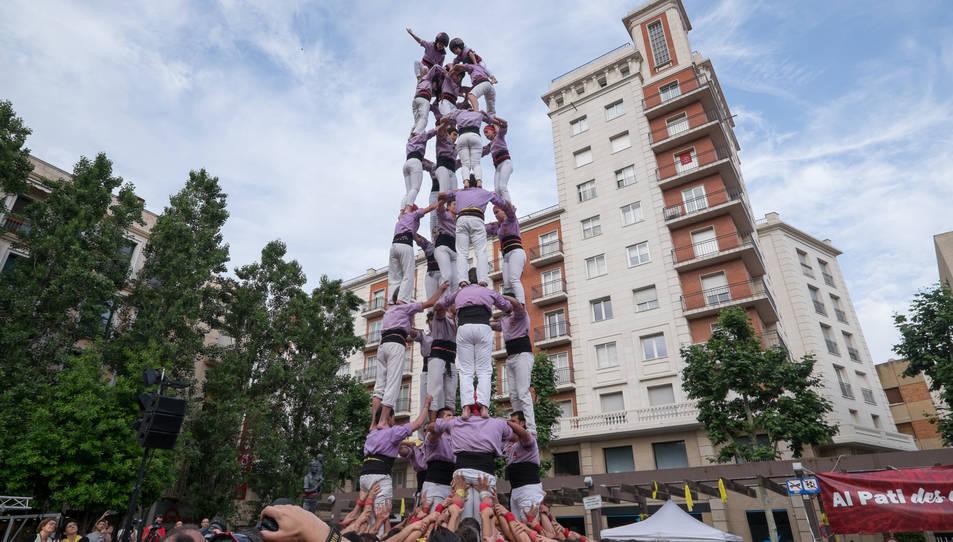 5de8 de la Colla Jove Xiquets de Tarragona a la diada del Pati