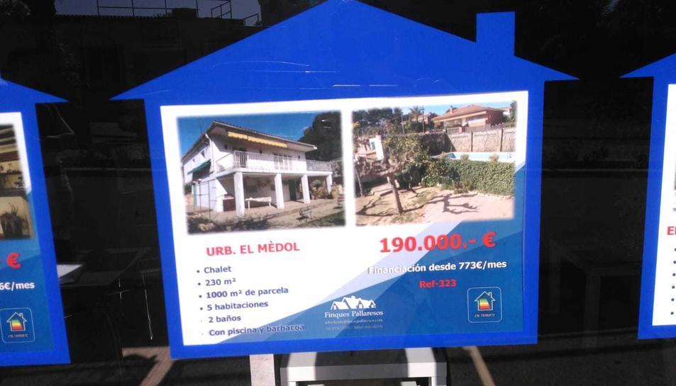 Imatge de l'anunci de la casa que Noguera i la seva parella volien comprar l'any passat.