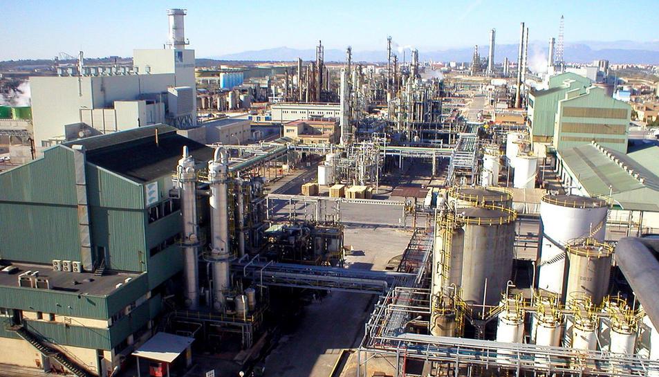 Imatge aèria de la planta Vila-seca I.