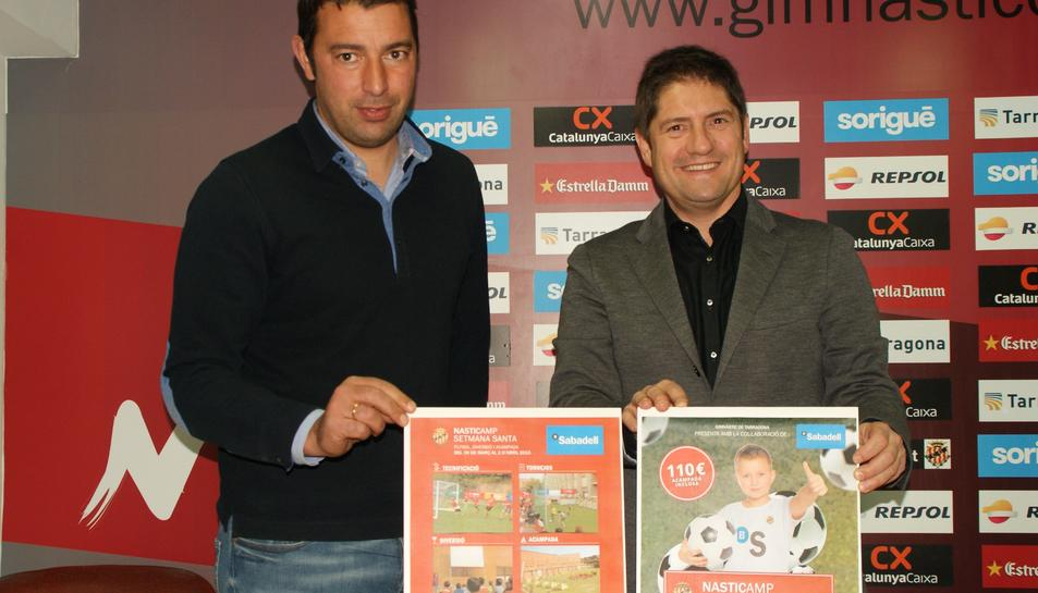 José Luis Deus, a l'esquerra, acompanyat de Lluís Fàbregas.