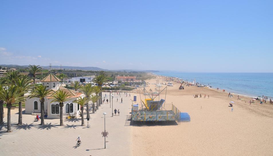 Imatge d'arxiu de la platja de Torredembarra.