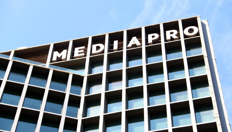 Imatge de la façana de l'edifici de Mediapro.