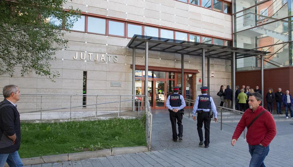 Una imatge d'arxiu dels jutjats, a l'avinguda de Marià Fortuny.