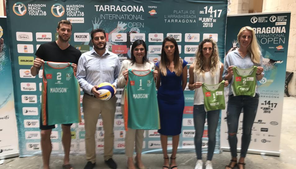 La presentació, amb els quatre esportistes, es va desenvolupar a l'Ajuntament de Tarragona.