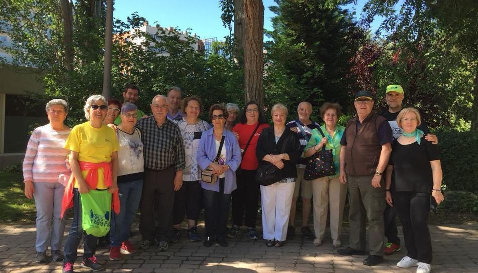 Imatge dels caminants que han participat en la cloenda del 'Pas a Pas' a Reus.