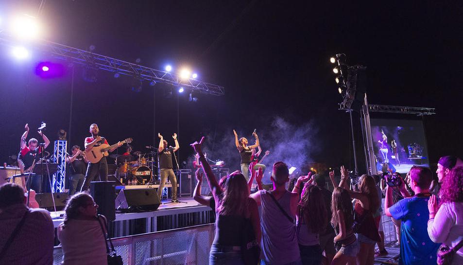 Les Barraques han quedat vinculades al concert del Mamut Rock.