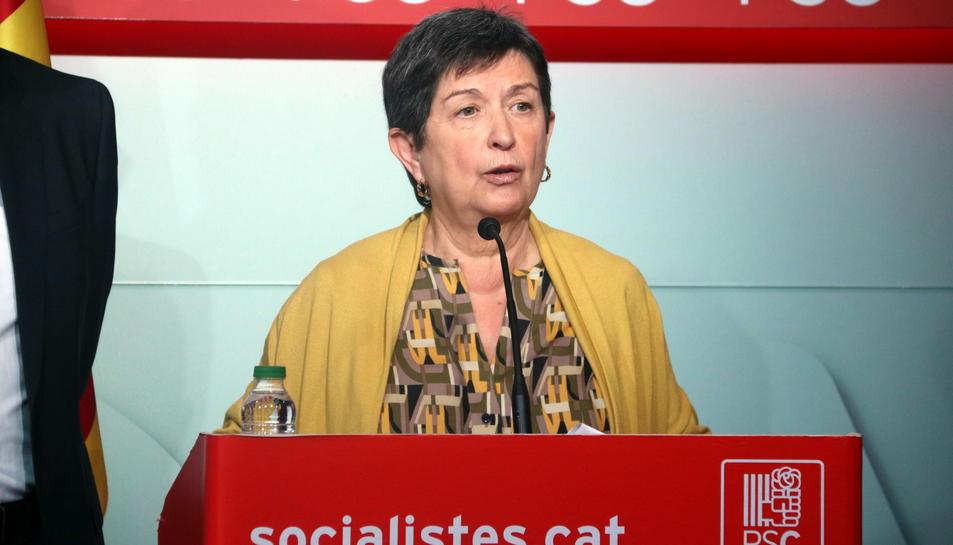 Pla mig de la representant del PSC a la gestora del PSOE, Teresa Cunillera, el 30 de gener del 2017.