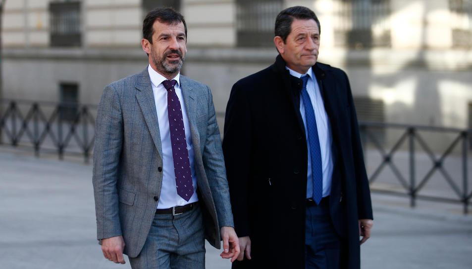 Imatge d'arxiu del comissari en cap dels Mossos d'Esquadra, Ferran López, anant cap a l'Audiència Nacional.