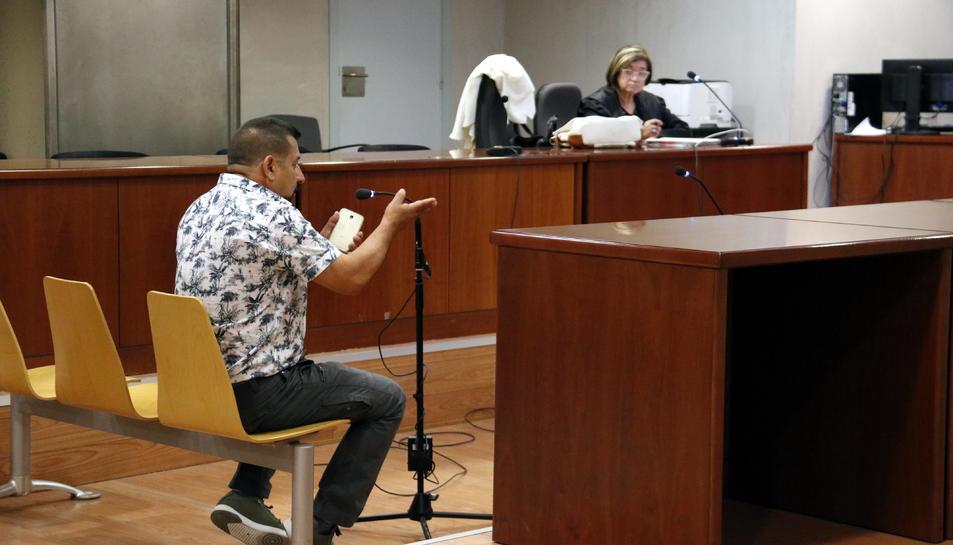 Imatge de l'acusat durant el judici a l'Audiència de Lleida.
