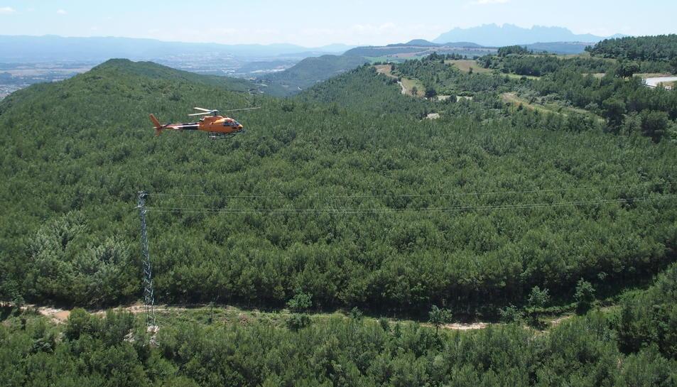 Un helicòpter de la companyia