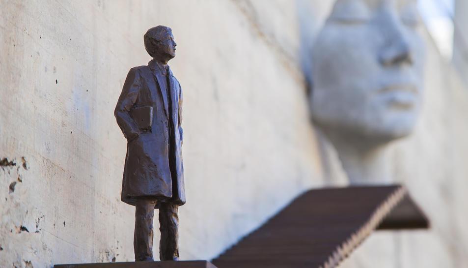 Imatge de la escultura inaugurada aquest dijous.