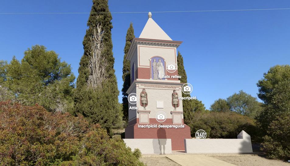 Imatge virtual de la coneguda com a Torre dels Escipions.