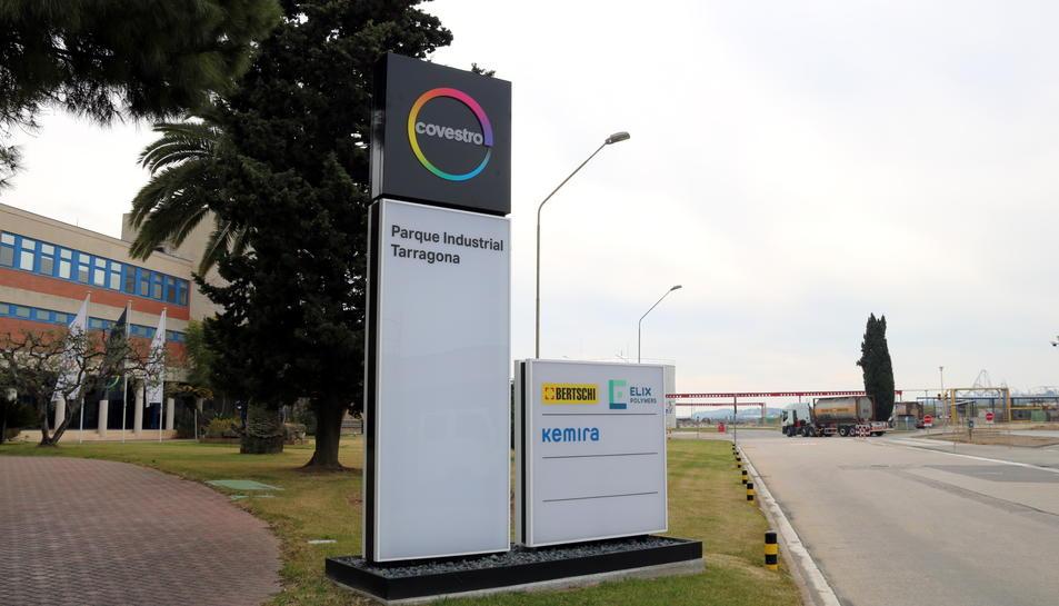 Pla general de l'accés a la planta de Covestro a Tarragona.