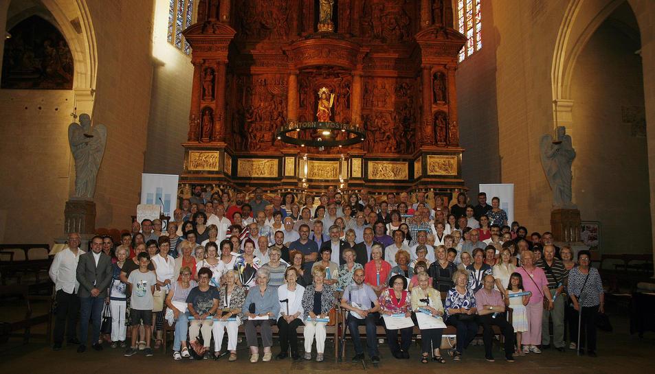 Prop de 150 mecenes van rebre els diplomes d'apadrinament de l'orgue de Valls.