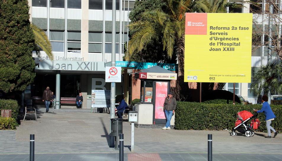 Imatge de la façana de l'Hospital Joan XXIII.