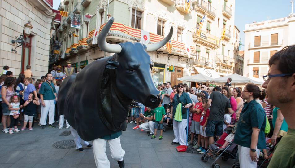 El Bou de Reus, a la plaça del Mercadal, en una imatge d'arxiu.