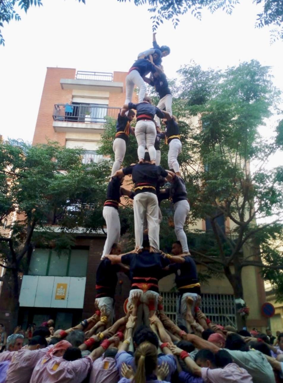 4de7a dels Xiquets del Serrallo a la diada de Sant Pere
