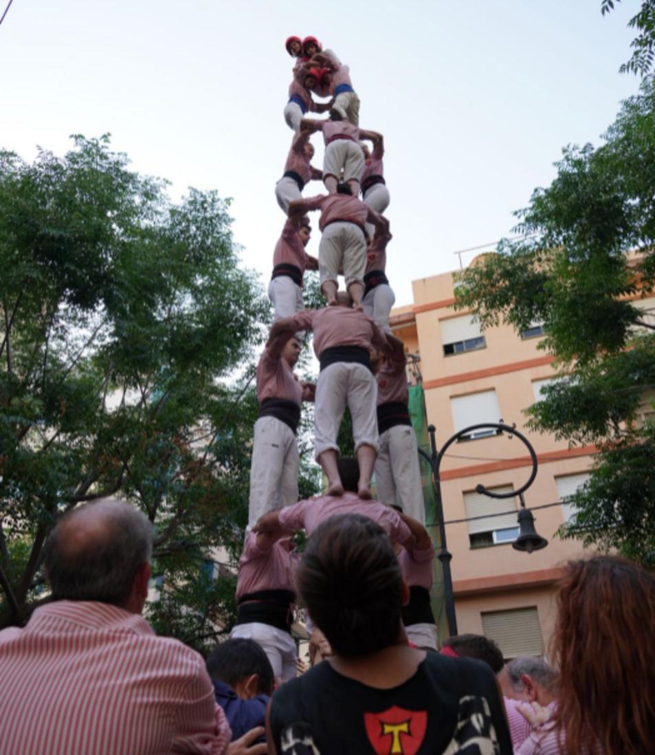 3de8 dels Xiquets de Tarragona a la diada de Sant Pere
