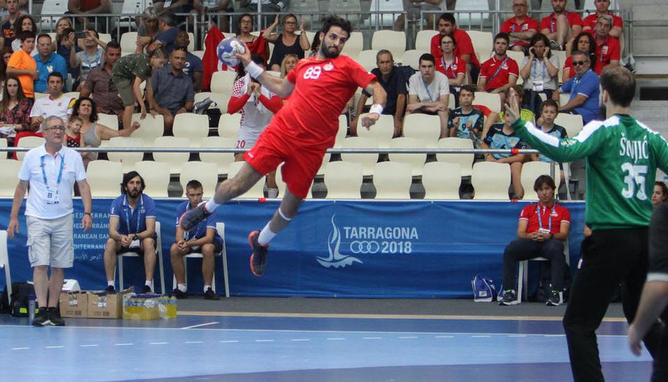La final d'handbol entre Tunísia i Croàcia