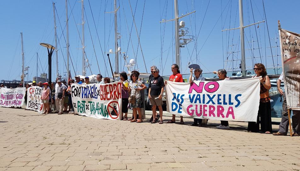 Imatge de les protestes d'alguns ciutadans.