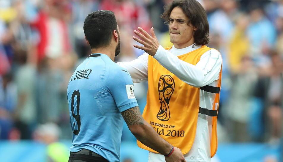 La dupla Luis Suárez-Cavani va quedar coixa per culpa de la lesió del davanter del PSG.