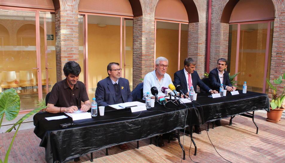 D'esquerra a dreta, Jaume Descarrega, Jean Marc Segarra, Josep Fèlix Ballesteros, Mariano Herráiez i Rafael Pallero.
