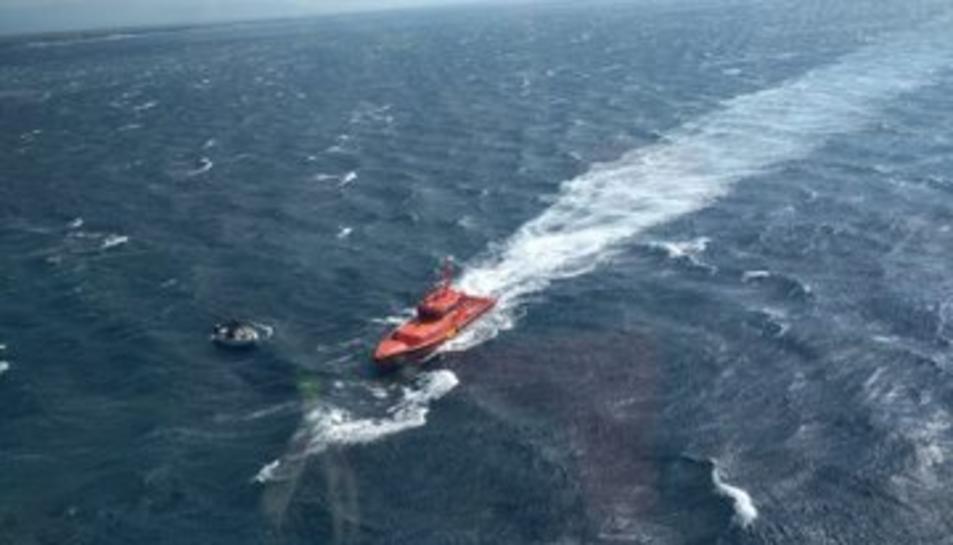 Imatge del rescat de dos bussos