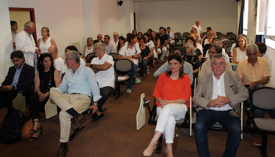 Imatge de l'acte de reconeixement als voluntaris dels jocs de l'ICS Camp de Tarragona, el passat divendres 13 de juliol.