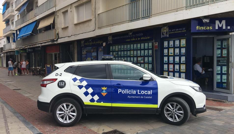 Imatge d'arxiu d'un cotxe policial de la Policia Local de Calafell.