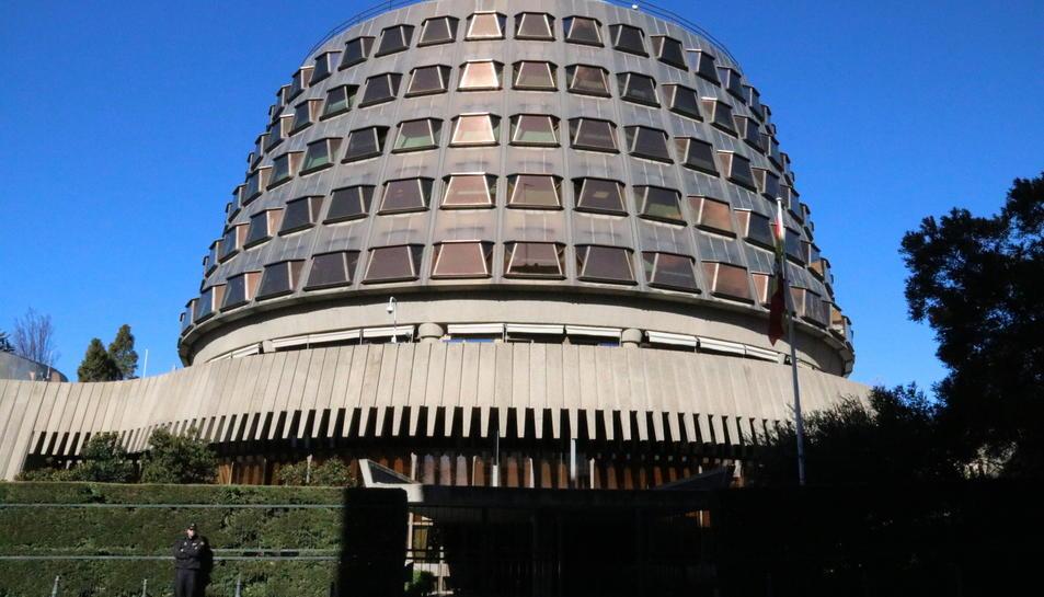 Imatge exterior del Tribunal Constitucional.
