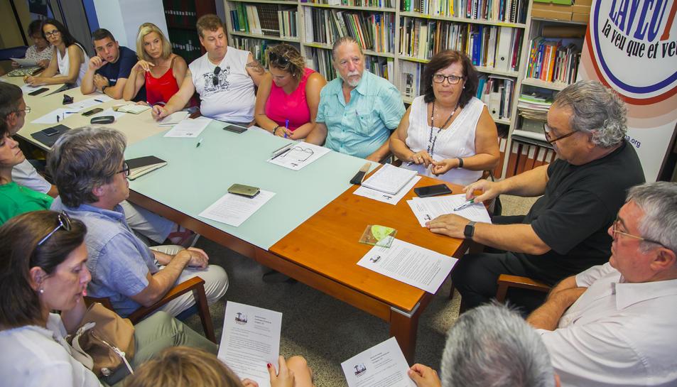 La reunió es va celebrar ahir a la seu de la Coordinadora d'Entitats del Camp de Tarragona.