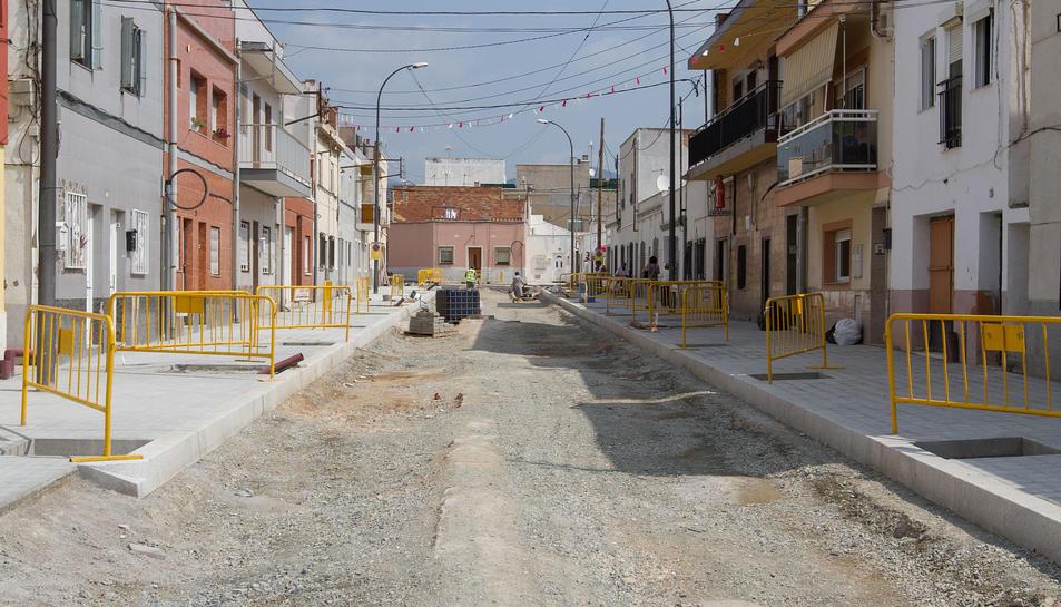 Una imatge d'arxiu de l'inici de la segona fase de les obres, que es va produir la setmana passada.